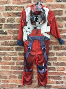 Star Wars Deluxe Poe (X-Wing Fighter) Outfit 5-6 Years 3D Detail HELMET