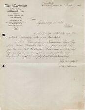 HASSELFELDE, Brief 1922, Holzhandlung Otto Hartmann