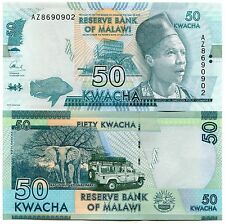 Malawi 50 Kwacha Uncirculated Banknote 2016 P64 X 5 Consecutive Notes