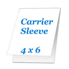 Carrier Sleeve For Laminating Laminator Pouches 5 pk 4-5/8 x 6-5/8 Coated