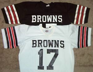 VINTAGE 70's BRIAN SIPE CLEVELAND BROWNS #17 NFL RAWLINGS JERSEYS M 38-40 NICE!