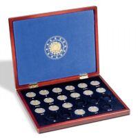 Münzkassette VOLTERRA UNO für 23 europ. 2-Euro-Gedenkmünzen 30 Jahre EU-Flagge