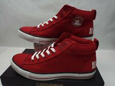 New Mens 11.5 Converse CT EXT Street Mid Jester Red Canvas Shoes $60 136508F