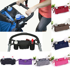 1X Baby trolley storage bag organizer stroller buggy pram cup holder bas1