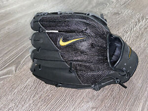 "Nike Force Edge 12"" Black/Gold Baseball Glove, Unisex RHT CT1563-049 BRAND NEW"