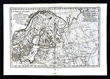 1779 Bonne Map Sweden Norway Denmark Finland Russia Scandinavia Copenhagen Oslo