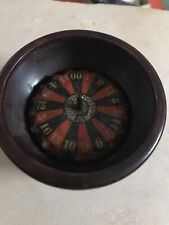 More details for small old wooden roulette wheel 3 1/2 inches