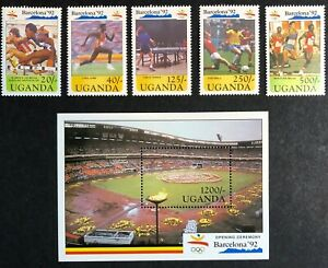 Uganda - 1991 - Oympic Games - Barcelona 1992 - Unmounted Mint.