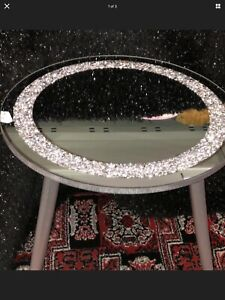 A Stunning Crushed Diamond Side Table 38x40cm