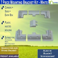 Solar Panel Corner Mounting Bracket Mount Kit Cable Entry Free Freight WHITE