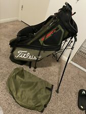 New listing Titleist Stand Bag Green 5 Divider W Raincover Excellent Shape 💥