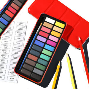 24 Watercolour Paint Set With Brush Kits for Painting Water Colour Art Artist