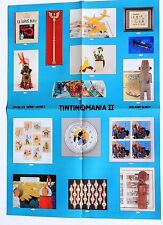 POSTER Affiche Objets Tintin. Vente aux enchères Tintinomania II. 1992. 42 x 59