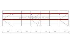 Gerüst Typ Layher 140 qm mit Bordbretter Fassadengerüst Stahlböden 3,07 m NEU