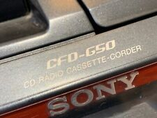 Sony CFD-G50 CD Radio Cassette-Corder Portable Boom Box