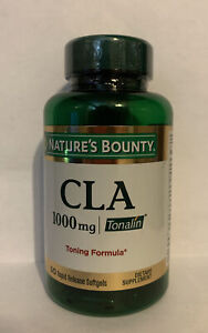 Nature's Bounty Tonalin 1000mg CLA 50 Softgels - Exp 07/21 - New, Free Shipping
