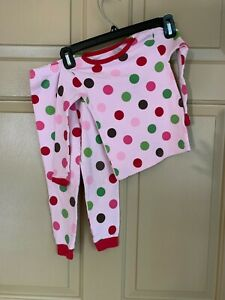 Carter's Just One You Thermal Pajama Set sz 3T Pink with Multicolored Polka Dots