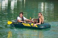 New Intex 68347 Intex Sea Hawk 2 Inflatable Raft River Lake Dinghy Boat Oars Set
