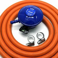 Calor Gas Brand 21mm BUTANE GAS REGULATOR 2mt HOSE 2 CLIPS Fits Calor Gas 21mm