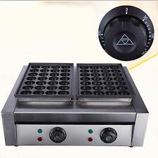 New listing 110V 50pcs Commercial Electric Takoyaki Machine Maker Fish Ball Grill Machine Us