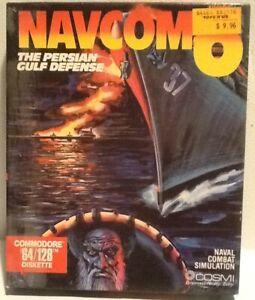 Navcom 6 Persian Gulf Defense Commodore 64 Software C64 C128 1988 Cosmi