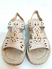 EARTH SPIRIT- WOMAN 6.5,7.5,8,8.5 GENUINE LEATHER CONTOURED-ARCH SUPPORT SANDALS