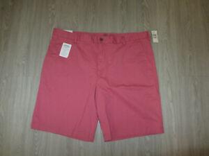 "NWT NEW IZOD Saltwater Flat Front Dress Lounge Golf Shorts 40 9.5"" Pink Stretch"