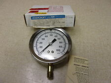 "New Ashcroft Gauge 1009Aw Duralife 3-1/2"" 0-140 psi 3Ja23322-028 *Free Shipping*"