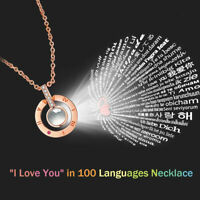 Women's Necklace Light Projection 100 Languages I Love You Pendant Jewelry Gift
