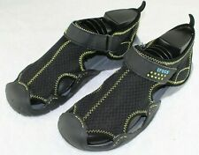 Crocs Men's Swiftwater Mesh Hiking Water Sandals Shoes Black Charcoal Size 8