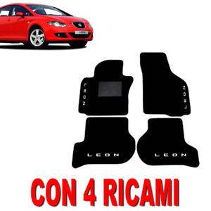 TAPPETINI PER AUTO SU MISURA PER SEAT LEON (2) IN MOQUETTE E GOMMA + 4 RICAMI