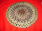 """Vintage Round 12"""" Rag Rug for Small Table - SEE PHOTOS"""