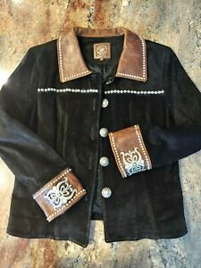 Double D Ranch Leather Studded Jacket *Large