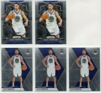 5) 2019-20 Panini Klay Thompson Lot Prizm #209 Mosaic #80 GSW Warriors Base Card