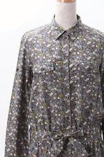 BONPOINT YAM Women's Sz S MultiColor Floral Print Shirt Dress Drop Waist