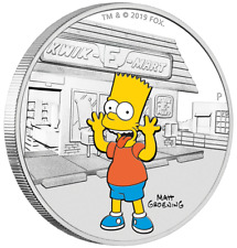 Tuvalu - 1 Dollar 2019 - Bart Simpson™ - Die Simpsons™ (2.) - 1 Oz Silber PP