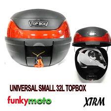 MOTORCYCLE UNIVERSAL LUGGAGE TOP BOX 30-32 LITRE BLACK FREE BRACKET MOTORBIKE