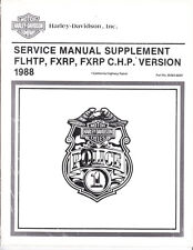 1988 Harley FLHTP FXRP/C.H.P. Police Service Repair Manual Supplement 99483-88SP