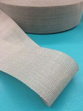 """10 Yds Synthetic Upholstery Webbing 3 1/2"""" Furniture 3.5 Seat back Chair Jute"""