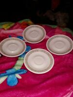 Corelle Woodland Brown Coffee Tea Cup Saucer Plate Set Of 4 Vtg 1970s Corning