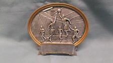 male basketball resin oval plate plaque trophy small by Pdu