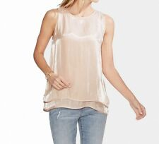 Vince Camuto Womens Blouse Pink Size XL Double-Layered Irridescent $109 022