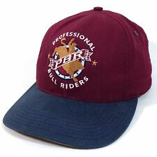 PBR Professional Bull Riders Snapback Cap Made in USA Red Baseball Hat       c2