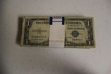 (100) $ 1 dollar 1935 & 1957 Silver Certificates Notes - Good Condition