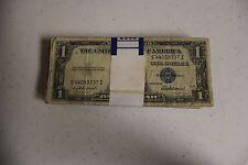 (100) $ 1 dollar 1935 & 1957 Silver Certificates Notes - Good Condition