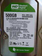 Western Digital WD 5000 aads - 56s9b1 | hgnnht 2chn | 04 sep 2011 | 500gb disco duro