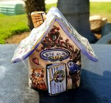 Blue Sky Clayworks By Heather Goldminc Tealight House Candle Holder Cat Bird