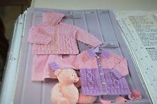 Sirdar Knitting Pattern 1639 Snuggly Bubbly Jackets 0-6 yrs