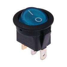 Interruttore a Bilanciere 230V On-Off Blu Illuminato Tondo Diametro 23mm
