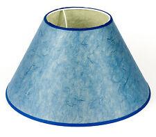 Lampenschirm Blau Pergament Papier E27 Gross Xl 32cm Stehlampe Tischleuchte